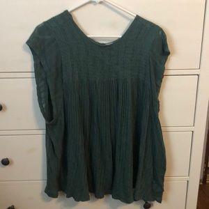 Emerald Green Boho Peasant Shirt